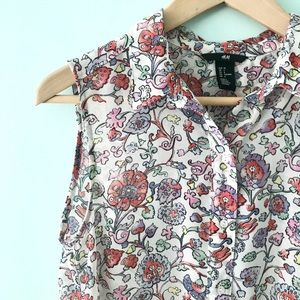 H&M floral sheer top size 6
